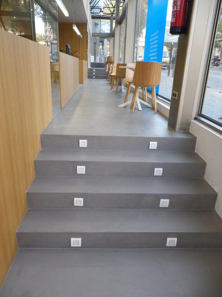 Microcemento en escaleras - Precio del microcemento ...