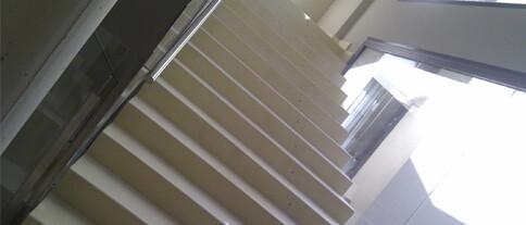 Microcemento en escaleras