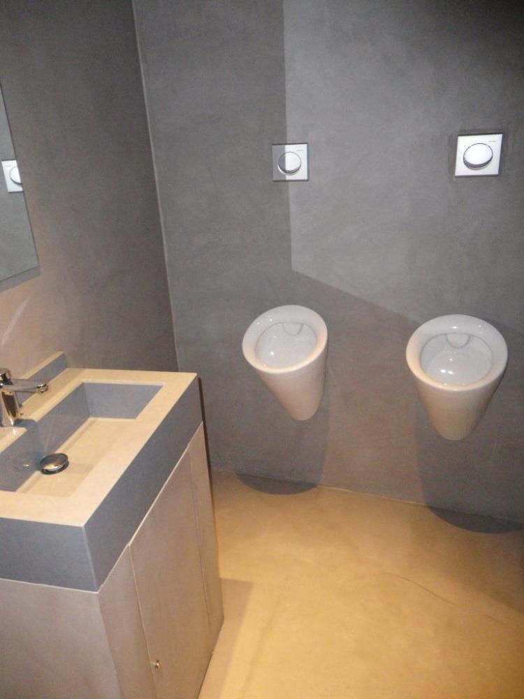 Lavabos de microcemento microcementos stn for Banos en microcemento