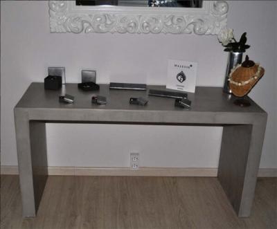 mesas de microcemento