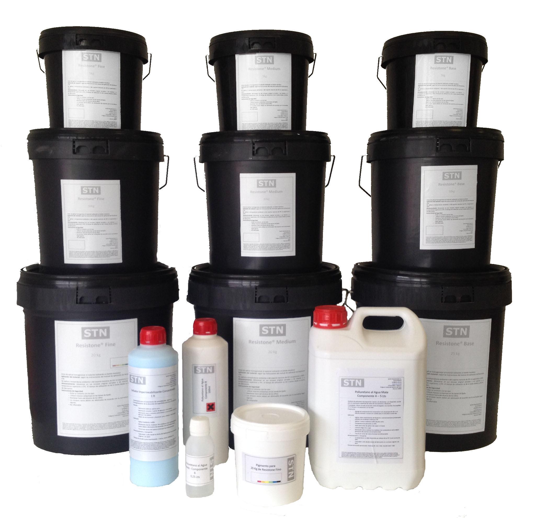 Cubos de microcemento Resistone listo al uso para aplicar en Madrid