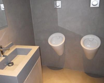 lavabos con microcemento
