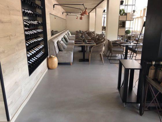 restaurante de microcemento resistone madrid