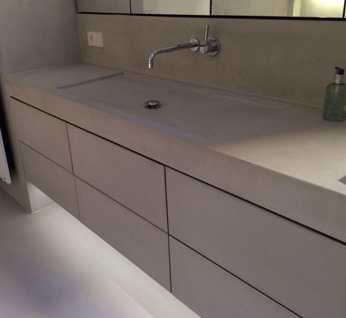 Mueble de lavabo de microcemento Resistone