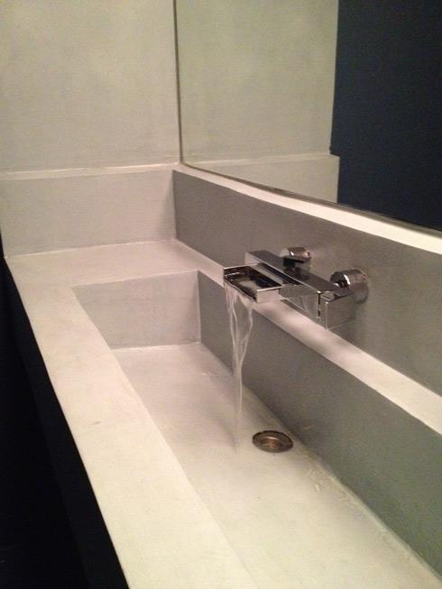 lavabo de microcemento resistone