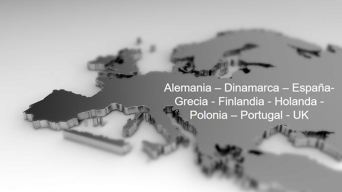 microcemento Resistone en España, Alemania, Dinamarca, Grecia, Finlandia, Polonia, Portugal y UK